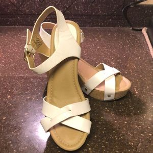 Kenneth Cole White Wedge Shoes